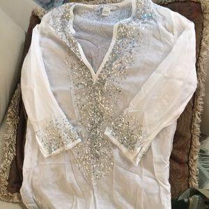 Zara glitter tunic size S